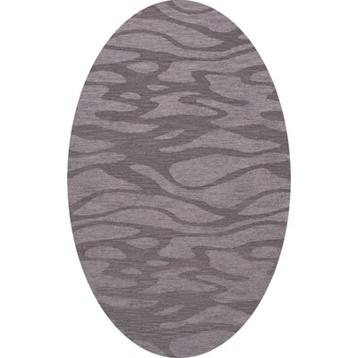 Bella Purple Area Rug Rug Size: Oval 5 x 8