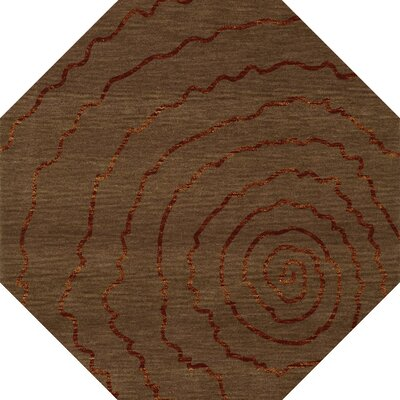 Bella Brown Area Rug Rug Size: Octagon 8'