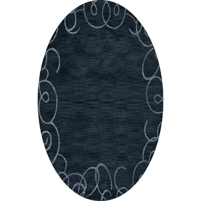 Bella Blue Area Rug Rug Size: Oval 6' x 9'