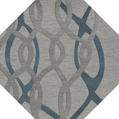 Bella Machine Woven Wool Gray Area Rug Rug Size: Octagon 10'