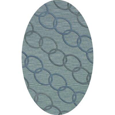 Bella Blue Blue Area Rug Rug Size: Oval 6 x 9