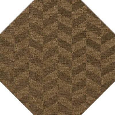 Bella Machine Woven Wool Brown Area Rug Rug Size: Octagon 8'