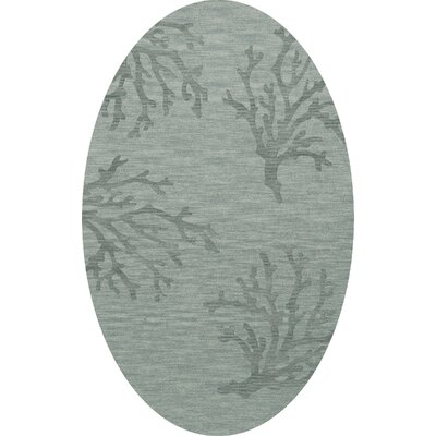 Bella Machine Woven Wool Gray Area Rug Rug Size: Oval 8 x 10