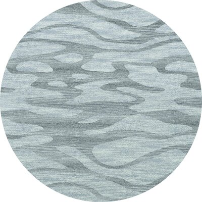 Bella Machine Woven Wool Blue Area Rug Rug Size: Round 10