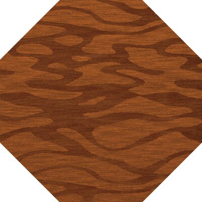 Bella Rust/Orange Area Rug Rug Size: Octagon 8