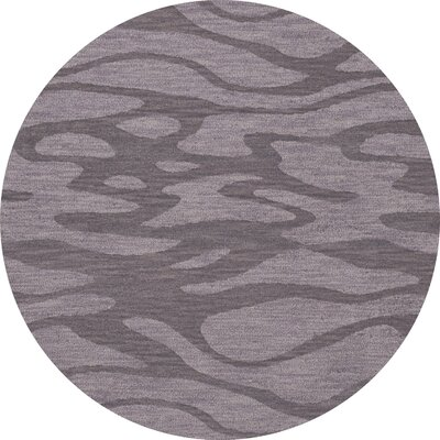 Bella Purple Area Rug Rug Size: Round 12