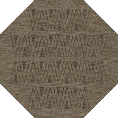 Bella Machine Woven Wool Gray Area Rug Rug Size: Octagon 6'