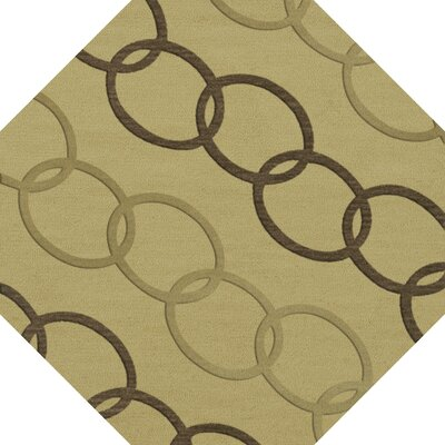 Bella Machine Woven Wool Beige Area Rug Rug Size: Octagon 12