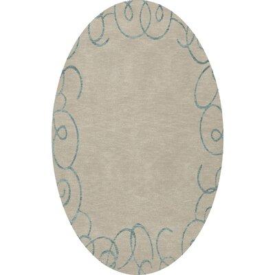 Bella Beige Area Rug Rug Size: Oval 10 x 14