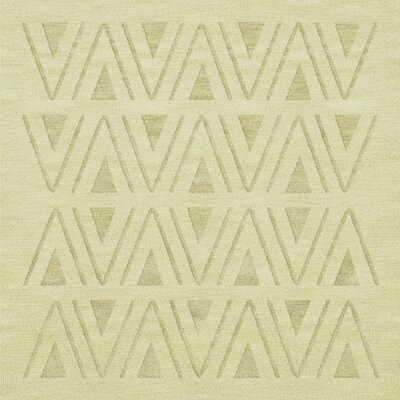 Bella Machine Woven Wool Beige Area Rug Rug Size: Square 12
