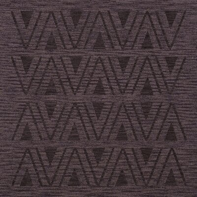 Bella Machine Woven Wool Purple Area Rug Rug Size: Square 12
