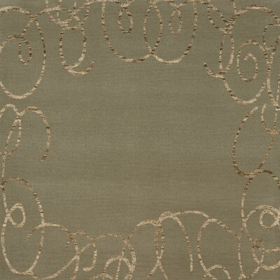 Bella Machine Woven Wool Gray Area Rug Rug Size: Square 4