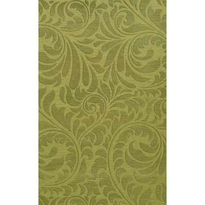 Bella Machine Woven Wool Green Pad Area Rug Rug Size: Rectangle 4 x 6