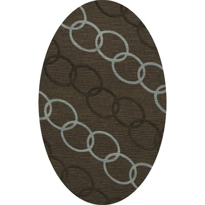 Bella Machine Woven Wool Brown Area Rug Rug Size: Oval 10 x 14