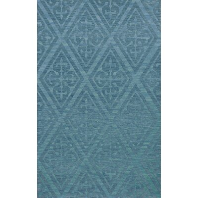 Bella Machine Woven Wool Blue Area Rug Rug Size: Rectangle 6 x 9