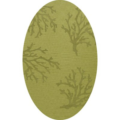 Bella Green Area Rug Rug Size: Oval 4 x 6