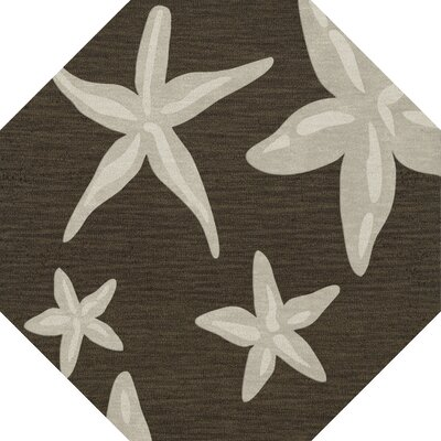 Bella Brown/Beige Area Rug Rug Size: Octagon 10
