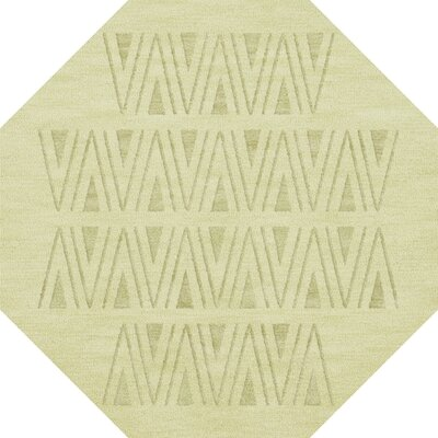 Bella Machine Woven Wool Beige Area Rug Rug Size: Octagon 10