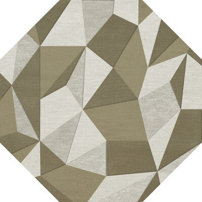 Bella Machine Woven Wool Beige/Gray Area Rug Rug Size: Octagon 10'