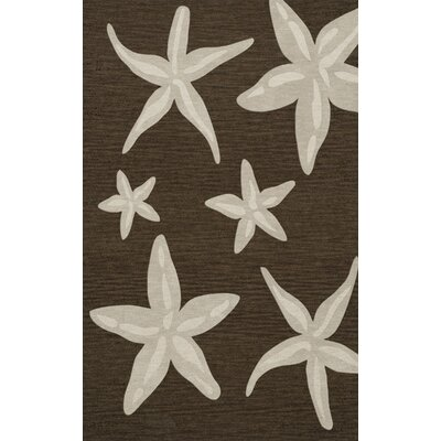 Bella Brown/Beige Area Rug Rug Size: 4 x 6