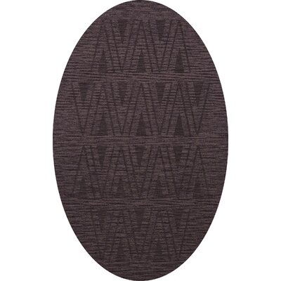 Bella Machine Woven Wool Purple Area Rug Rug Size: Oval 12 x 18