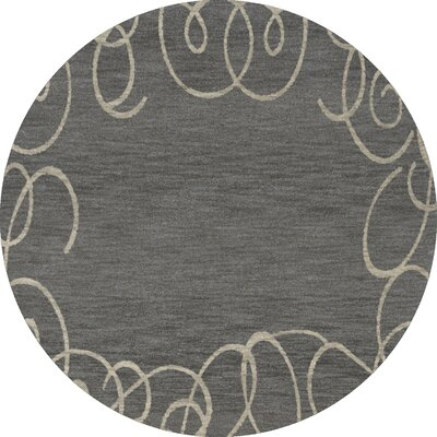 Bella Gray Area Rug Rug Size: Round 4