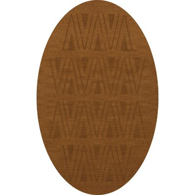 Bella Machine Woven Wool Brown Area Rug Rug Size: Oval 4 x 6