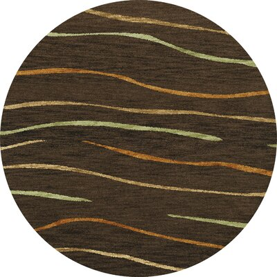 Bella Brown Area Rug Rug Size: Round 6'