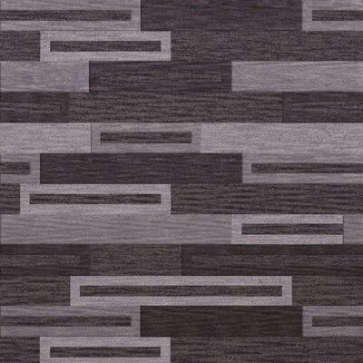Bella Machine Woven Wool Black/ Gray Area Rug Rug Size: Square 10