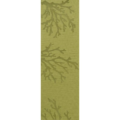 Bella Green Area Rug Rug Size: Runner 26 x 12