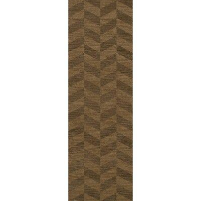 Bella Machine Woven Wool Brown Area Rug Rug Size: Runner 26 x 12