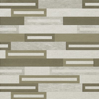 Bella Machine Woven Wool Gray/ Brown Area Rug Rug Size: Square 6'
