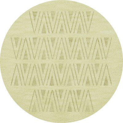 Bella Machine Woven Wool Beige Area Rug Rug Size: Round 10
