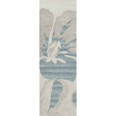 Bella Machine Woven Wool Blue Area Rug Rug Size: Runner 26 x 8