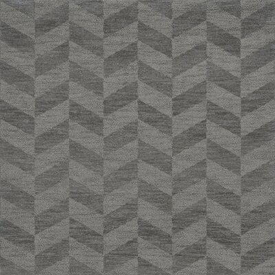 Bella Machine Woven Wool Gray Area Rug Rug Size: Square 10