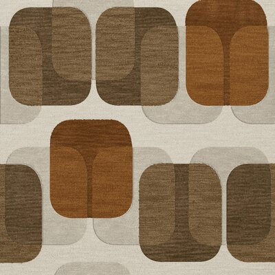 Bella Brown Area Rug Rug Size: Square 12