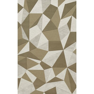 Bella Machine Woven Wool Beige/Gray Area Rug Rug Size: Rectangle 12 x 15