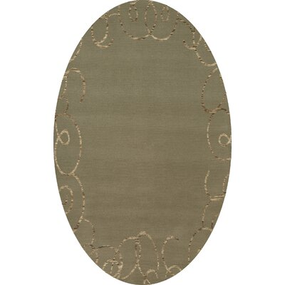 Bella Gray Area Rug Rug Size: Oval 12' x 15'