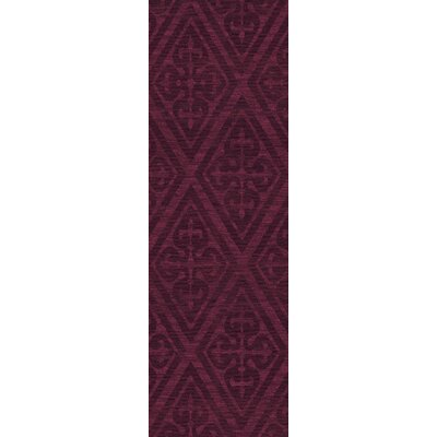 Bella Machine Woven Wool Red Area Rug Rug Size: Runner 26 x 10