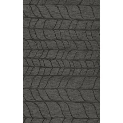 Bella Machine Woven Wool Gray Area Rug Rug Size: Rectangle 6' x 9'