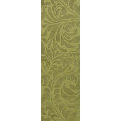 Bella Machine Woven Wool Green Pad Area Rug Rug Size: Runner 26 x 10
