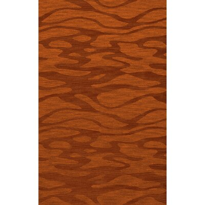Bella Rust/Orange Area Rug Rug Size: 4 x 6