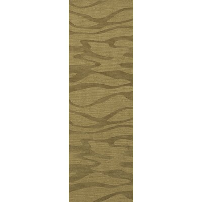 Bella Green Area Rug Rug Size: Runner 26 x 10