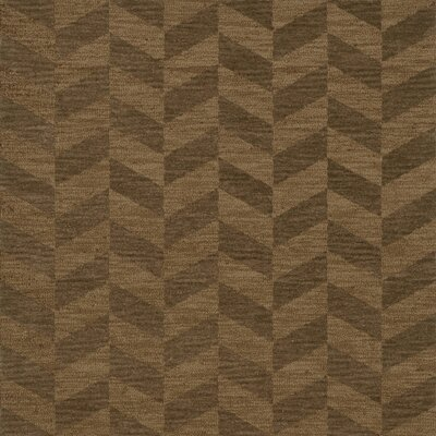 Bella Machine Woven Wool Brown Area Rug Rug Size: Square 8