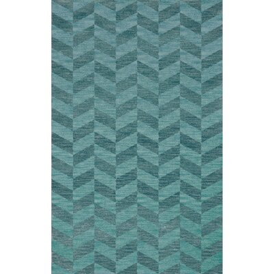Bella Machine Woven Wool Blue Area Rug Rug Size: Rectangle 9' x 12'