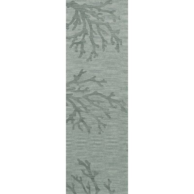 Bella Machine Woven Wool Gray Area Rug Rug Size: Runner 26 x 8