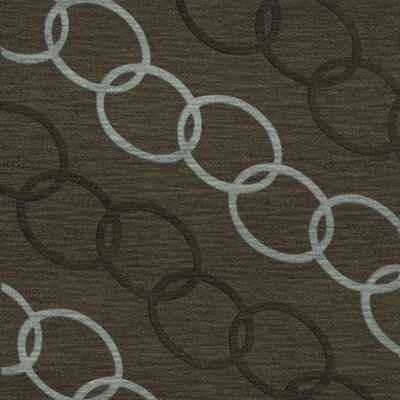 Bella Machine Woven Wool Brown Area Rug Rug Size: Square 12