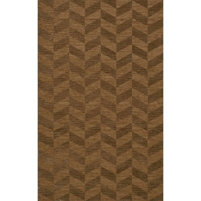 Bella Machine Woven Wool Brown Area Rug Rug Size: Rectangle 4 x 6