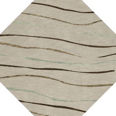 Bella Gray Area Rug Rug Size: Octagon 10