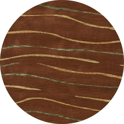 Bella Brown Area Rug Rug Size: Round 6